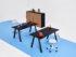 Scatto fotografico delle scrivanie collezione Apollo ridimensionabili per uffici operativi