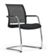 Black visitor seat with chrome frame